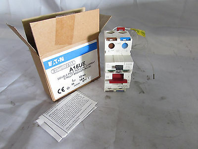 Eaton A16Ue Double Pole Residual Current Circuit Breaker 16A 10Ma 240V **nib**