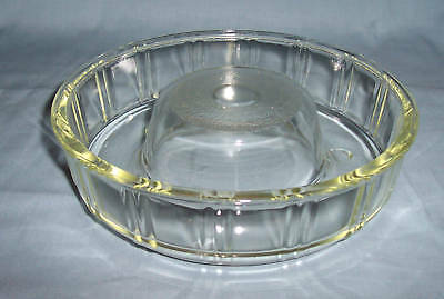1950's MckEE GLASBAKE Crystal QUEEN ANNE RING MOLD, Exc
