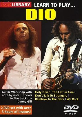 LICK LIBRARY Learn to Play DIO Holy Diver We Rock Electric Metal GUITAR DVD