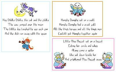 Nursery Rhyme Cross Stitch Patterns