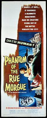 PHANTOM OF THE RUE MORGUE 1954 Karl Malden US INSERT