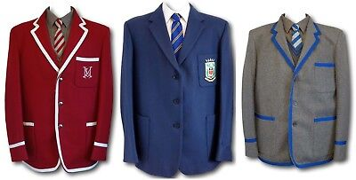 School Uniform Blazers With Trim - Wool Flannel & Wool Worsted - Adult Sizes