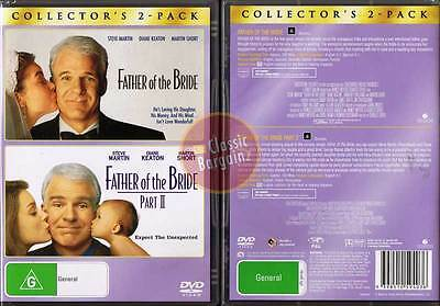 FATHER OF THE BRIDE 1 2 DVD Steve Martin Short D Keaton (Region 4 Australia)
