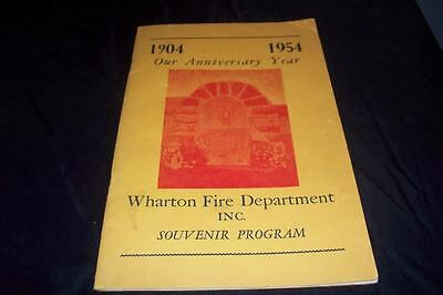 Vintage 1954 wharton nj fire department photo program for Wharton cad