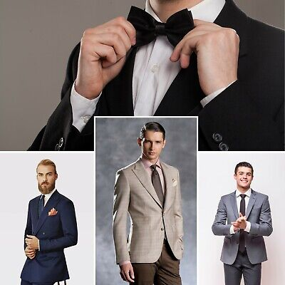 Custom Tailored Made to Measure Men's Slim and Classic Fit Business Formal Suit