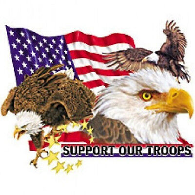 Support Our Troops Eagle T-Shirt All Sizes And Colors (200)