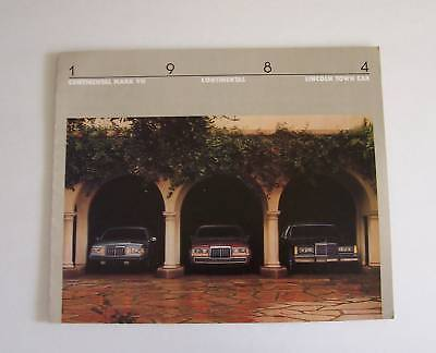 1984 Ford Lincoln MarkVII Continal Dealer  Brochure
