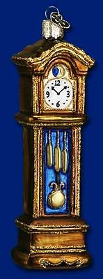 Grandfather Clock Ornament Glass Old World Christmas 32034 23
