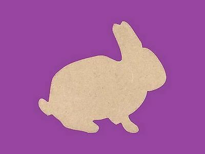 Sujet ou support a decorer en bois medium mdf lapin