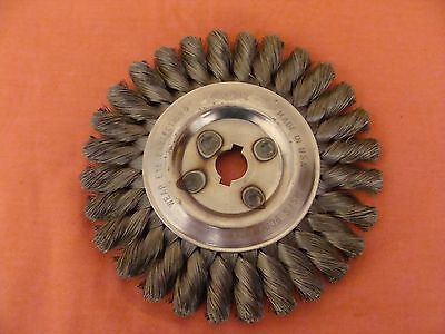 "New Old Stock Osborn 26122 Knot Wire Wheel Brush Heavy Duty 6"" Outside Diameter"