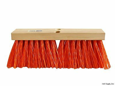 "16"" Orange Street Broom - Head Only, Poly Bristles, Magnolia 1316-O"