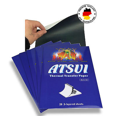 20 x ATSUI Thermo Papier TATTOO PAPER MATRITZENPAPIER OVP TOP ORIGINAL NEU