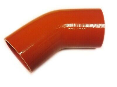 "RED Silicone Hose 57mm x 45° (Degree) 2.25"" Silicon Elbow Bend"