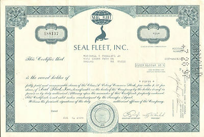 Seal Fleet   shipping stock certificate share seal vig