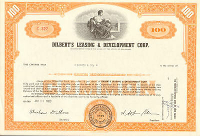 DILBERT'S LEASING & DEVELOPMENT stock certificate share