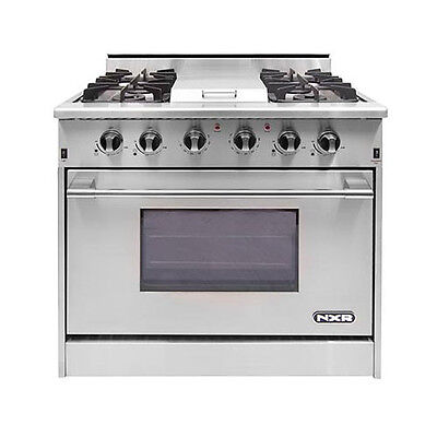 "NXR Pro Gas Range 36"" 4 Burners/Griddle DRGB3601- Xtra Discount="