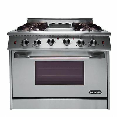"NXR Pro Gas Range 36"" 4 Burners/Griddle- Xtra Discount*"