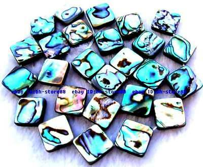 12mm natural rainbow abalone Shell flat square Beads15