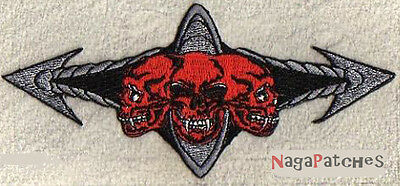 Ecusson thermocollant patche brodé Death Symbol patch écusson Metal Indus