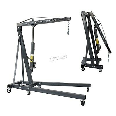 SwitZer Grey 2 Ton Tonne Hydraulic Folding Engine Crane Stand Hoist lift Jack