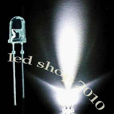 100 pcs 5mm Round White Super-Bright LED Light 20000MCD Special offer Only 1-DAY