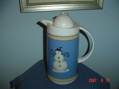 Debbie Mumm Snowman Thermal Server