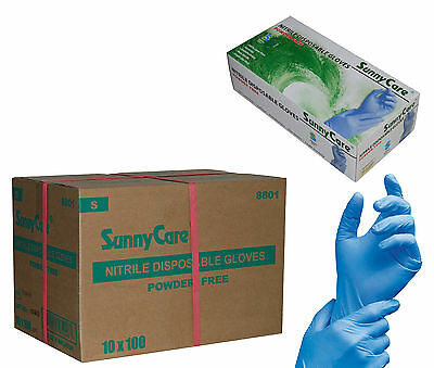 SunnyCare 1000 Nitrile Disposable Gloves Powder Free (Vinyl Latex Exam Free) S