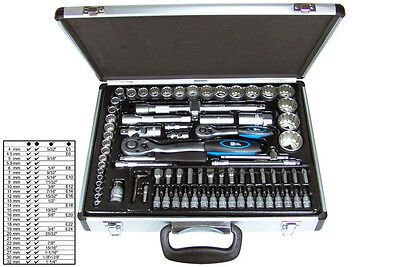 "BGS Germany 82-pc Reversible Ratchet Wrench Bit Socket Set 1/4""drive 1/2""drive!!"