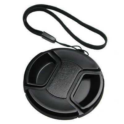 55mm Pro Center Pinch Snap-On Lens Cap with Keeper New