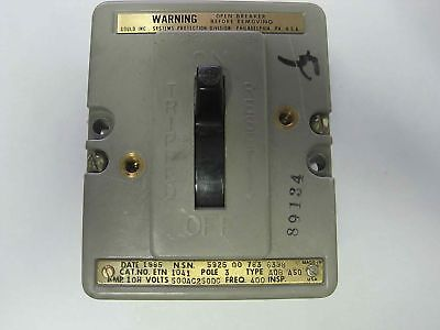 NOS Gould Air Circuit Breaker AQB-A50 3-Pole ETN-1041