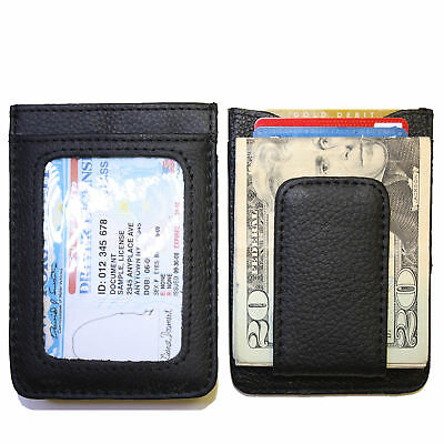 Men's Leather Wallet Credit Card ID Holder Money Clip