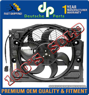 Pusher A/C Condenser Auxiliary Fan Motor W/frame 64546988913 for BMW E46 325i