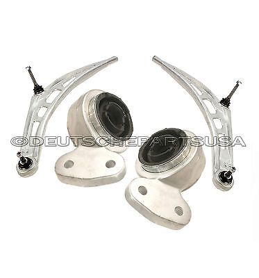 Front Lower Control Arms w// Bushings Pair Set NEW for BMW 3 Series E46 2WD
