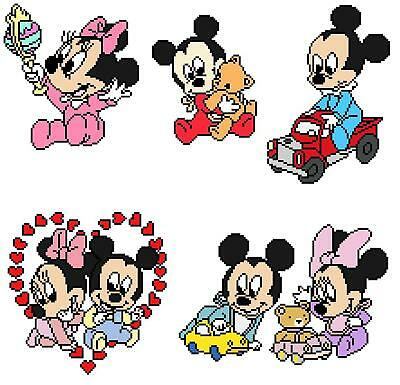 Disney Babies Cross Stitch Pattern