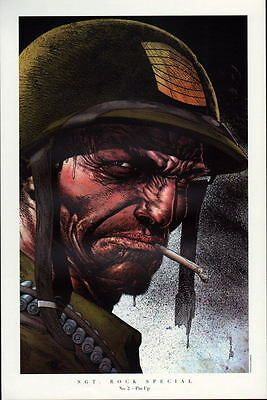 SGT. ROCK SPECIAL #2  PIN UP PRINT DC Bolland Art