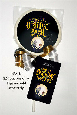 12 the nightmare before christmas party personalized 25 inch lollipop stickers