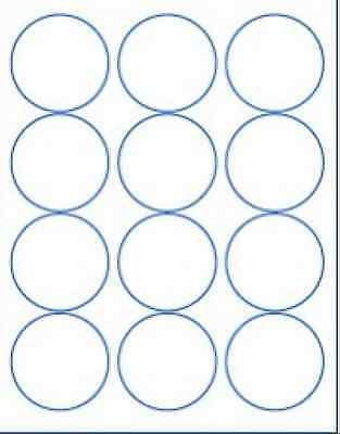 "1,000 Sheets Round White Circular Labels 2.5"" Diameter RB140"