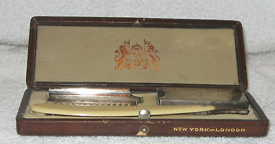 VINTAGE DURHAM DUPLEX RAZOR CO. NEW YORK LONDON W/CASE