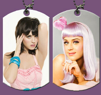 Katy Perry  Dog Tag w/ Beeded Chain  (HOT)