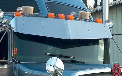 Kenworth W900 T800 T600 V Style Drop Visor Stainless Steel for Curved Windshield