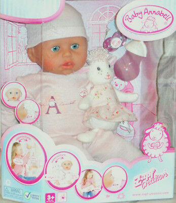 Baby Annabell 18 in. Girl Doll Interactive Lamb Cries Real Tears Zapf Version 5