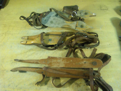 Antique Wooden Ice Skates ~ Group of 10 Pair