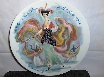 Albertine The Sinuous--Woman`Limoges Porcelain 76 Plate->Free To US
