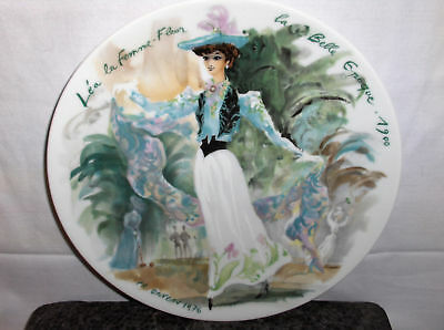Lea The Woman Flower-Beautiful`Limoges Porcelain Plate->Free To US