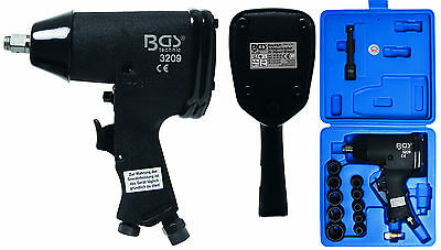 """BGS Germany 1/2""""dr Air Impact Wrench Driver Rattle Gun Socket Set 366Nm 270FT/LB"""