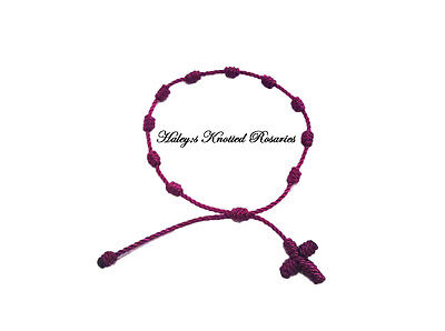Knotted Rosary Bracelet - Purple