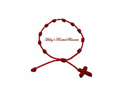 Knotted Rosary Bracelet - Red - Great Guarantee