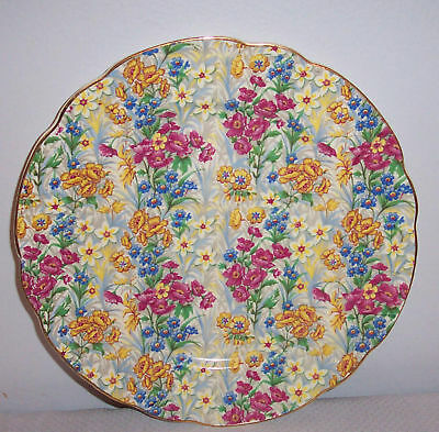 Erphila Sussex Cheery Chintz Luncheon Plate 9 I/8 Inch