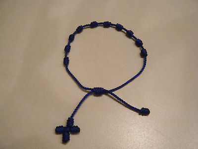 Knotted Rosary Bracelet - Royal Blue