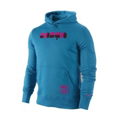 Nike FC Barcelona 2010 - 2011 Club Soccer Hooded Sweat Top Brand New  Turquoise dbe27a225c9